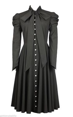 #Black victorian #gothic steampunk romantic vamp #button tunic dress,  View more on the LINK: 	http://www.zeppy.io/product/gb/2/381713666536/
