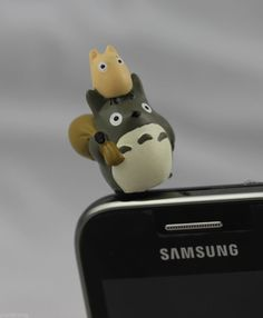 Totoro Earphone Mobile Accessories Ear Cap Dock Dust Plug for Cell Phone h3.5mm