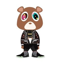 Kanye dropout bear redux w/Givenchy & Air Yeezys