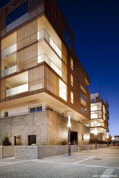 Flint Architectes, Sergio Grazia · Greensquare · Divisare Wood Architecture, Residential Architecture, Amazing Architecture, Contemporary Architecture, Architecture Details, Ancient Architecture, Sustainable Architecture, Building Facade, Building Design