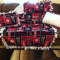 Roll Tide!! Alabama throw with Pillows