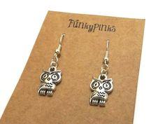 Owl Earrings Cute Owl Jewellery Owl Jewelry Owl by FunkyPinks