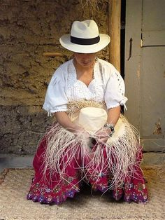 "Weaving ""Panama"" Hat, Cuenca, Ecuador which is the original Panama Hat.  They were sold in Panaman hence their North American Name!"