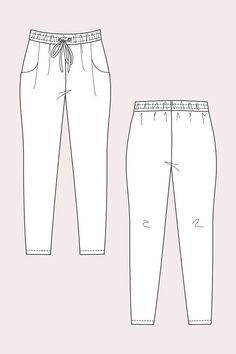 Alexandria Peg Trousers Simple Sizes:EUR 32 – 50 (US 0 – 18 / UK 4 – 22) The pattern includes two variations: Casual peg trousers and relaxed shorts Both s