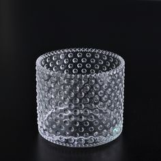 Spot glass candle holder nail glass candle holder