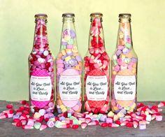 Valentine Candy Bottles & DIY Heart Arrows