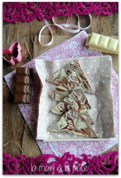Marbrés aux deux chocolats et perles de sucre