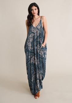 Portugal Printed Maxi Dress | ThreadSence