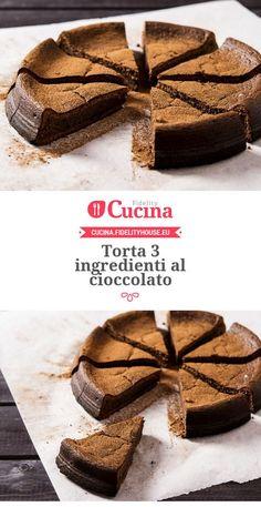 #Torta 3 ingredienti al #cioccolato