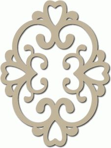 Silhouette Design Store - View Design #65341: scroll heart motif