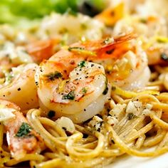 Lemon-Dill Seafood Pasta Recipe Main Dishes with pasta, unsalted butter, garlic, flour, milk, sour cream, grated parmesan cheese, salt, black pepper, nutmeg, shrimp, crabmeat, green onions, dill weed, lemon juice