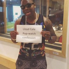 So when @lloydcele visited us we had to make him give us his #popwatchconfession Hint: it's a tv show.