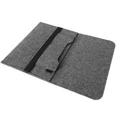 Edle und umweltfreundliche Laptop Schutzhülle für Apple Macbook Pro 13,3 Zoll aus strapazierfähigem Filz in Grau mit praktischen Innentaschen Sleeve Hülle Tasche Cover Notebook Case Tasche von UC-Express® 003