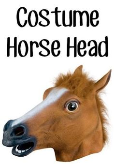 Awesome Costume Horse Head Sale: $7.95!  My boys each have one of these and they're SO funny... they make the BEST costumes ever!! #horses   TheFrugalGirls.com