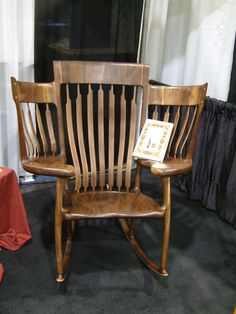Custom Storybook Rocker by Chidwick School Of Fine Woodworking . Find this Pin and more on Unique Wood Furniture ... & 126 best Unique Wood Furniture images on Pinterest | Home ideas ...