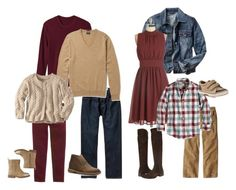 Casual Family Session Style by kristenkgiles on Polyvore featuring Gap, Børn, Clarks, J.Crew, Old Navy, Carter's, Sperry Top-Sider and plus size dresses