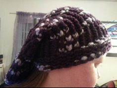 Slouchy hat for another niece (side view)