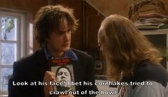 I pinned this because. English Comedy, British Comedy, Dylan Moran, Funny Things, Funny Stuff, Charlie Kelly, Humour And Wisdom, Jam Jam, Tv Shows Funny