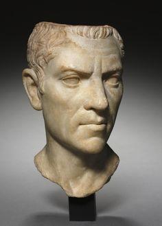 Portrait of C. Cornelius Gallus (?), c. 30 BC Greece, Greco-Roman Period, Roman Empire marble