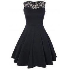#trendsgal.com - #Trendsgal Lace Sleeveless Knee Length Dress - AdoreWe.com