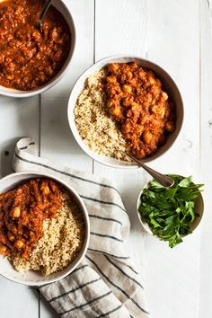Moroccan Chickpea Tomato Stew   The Full Helping