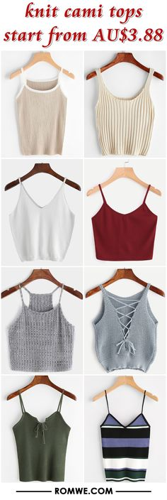 knit cami tops from AU$3.88 - romwe.com