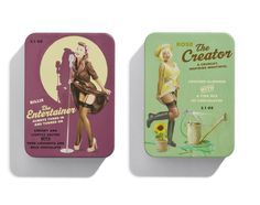 "Designed by Bessermachen for Brandhouse | Country: Denmark    ""12 archetypes.12 filled chocolates.12 months. Bessermachen design studio had a dream about how archetypes could be shown as young women, calendar girls in a classic 50s style, to create the perfect packaging for archetypes and chocolates. But we knew that for it to be authentic, it would have to be done right."