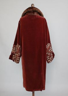 Vintage 1920s Velvet and Fur Cocoon Coat