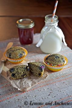 Blueberry Quinoa Muffins @Jean | Lemons and Anchovies