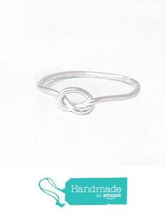 Handmade Love Knot Ring Silver Love Knot Ring Artisan Made Sterling Silver Unique Promise Ring from Adorn512