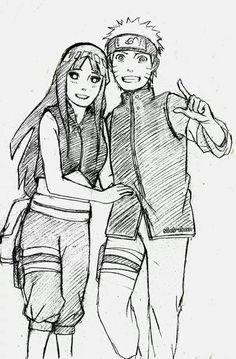 NaruHina ( sketches from the new movie Naruto shippuden : the last)