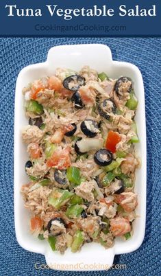 Tuna Vegetable Salad Recipe Quick Salad Recipes, Vegetable Salad Recipes, Tuna Recipes, Healthy Recipes, Healthy Salads, Healthy Eating, Side Salad, Best Appetizers, Good Food
