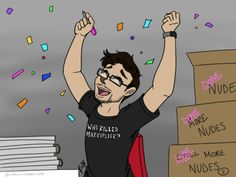 """littlemissspookiness: """"Congratulations @markiplier! You didn't let the calendars get you down!!! I'm super proud of you for finishing them all so quickly and not giving up! I'm excited to see mine arrive in the mail. I really appreciate you taking..."""