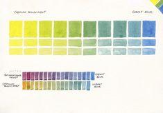 Watercolour Mixing Charts - Jane Blundell - Artist