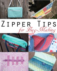 Sew Sweetness: Zipper Tips for Bag-Making Sewing Basics, Sewing Hacks, Sewing Tutorials, Sewing Tips, Sewing Projects, Bag Tutorials, Sewing Ideas, Techniques Couture, Sewing Techniques