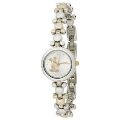 $20.00 Disney Women's MCK313 Mickey Mouse Two-Tone Link Bracelet Watch - Blending the classic elegance of sparkling jewels with the fun of Mickey Mouse, the Disney Women's Mickey Mouse Two-Tone Link Bracelet Watch complements both professional and casual attire. Protected by a fine mineral crystal, the round silver-tone dial pictures a gold-tone Mickey Mouse in his classic hands-on-hips stance. T ...