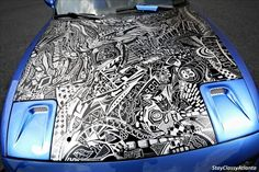 Blue Sharpie Car