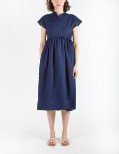 Guinness Dress Indigo Linen
