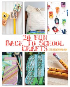 20 Fun Back to School Crafts! | littleredwindow.com