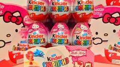 Смотреть онлайн видео Киндер Сюрприз Хелло Китти, новая коллекция для девочек Unboxing Kinder Surprise Hello Kitty