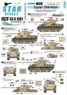 M50 Super Sherman. Six Day War in 1967
