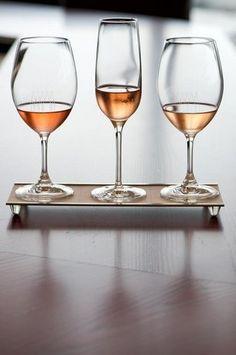 The Spring Rosé flight of wine at Vino Volo CVG. Cincinnati
