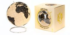 Perfect for globe trotters! Cork Globe : Pinpoint your travels right on the globe.