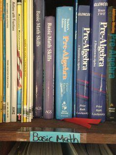 Basic Math Book shelf