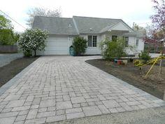 Coburg, Oregon permeable paver driveway - Graham Landscape & Design