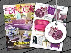 ¡Nuestro tocado Arco Iris Rosa en la revista ELLE DECOR de Febrero! Enteramente bordado a mano, de lentejuelas en degradado en varios tonos de rosa con orquídeas y plumas.  ¡Una pieza a la que le tenemos mucho cariño!