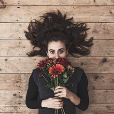 Flowers covering face // Flower photography // Creative portraits