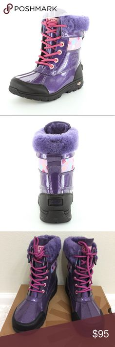UGG K Butte II Winter Boots Girl size 5 Authentic UGG boots for Girls . Size 5. Color: Lilac. These  are perfect to keep the feet warm during  winter. UGG Shoes Rain & Snow Boots