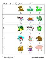 Beginning Sounds Test Practice Worksheet Ari Pinterest