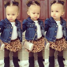 Little girls fashion, ADORABLE. My little girl will have an outfit like this!